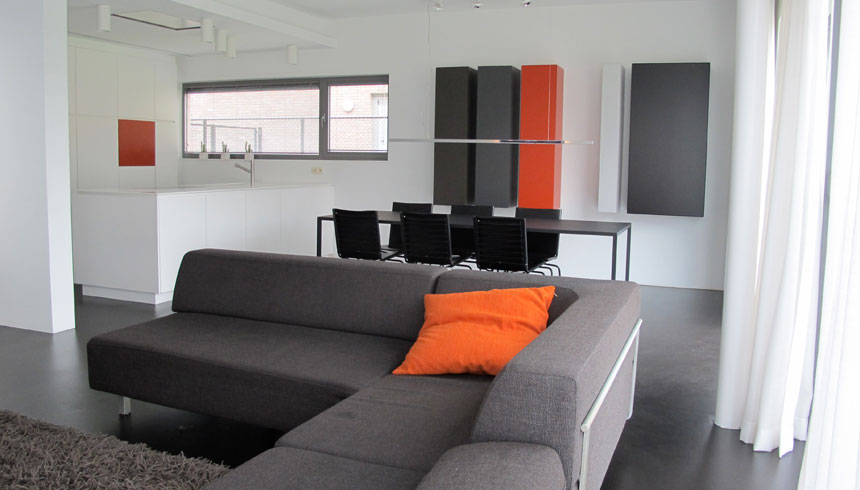 hoeksalon trio / tapijt buffo / keuken maatwerk / opbouwspot cilindro