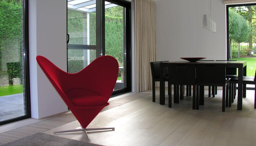 zetel heart cone verner panton / tafel en stoelen borges