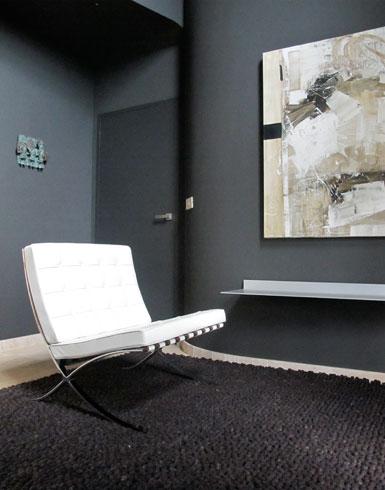 tapijt stone / zetel barcelona / aluminiumlegger s7